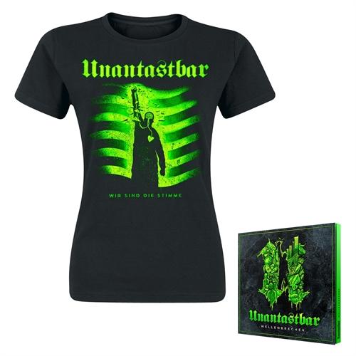 Unantastbar - Wellenbrecher Bundle, Girl-Shirt + CD