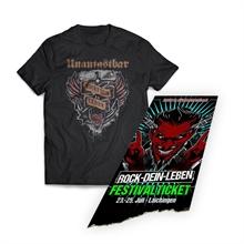 Unantastbar - ROCKT-DEIN-LEBEN, T-Shirt + Ticket Bundle